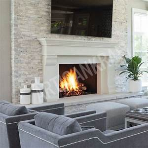 Best, Photos, Cast, Stone, Fireplace, Thoughts, Here, Is, A, Beautiful, Transitional, Fireplace, Mantel