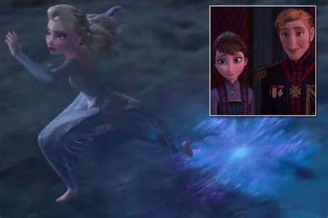 frozen  fans   elsa  running   trailer