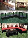 DIY Patio Furniture! My husband made this sectional sofa outdoor patio furniture ideas