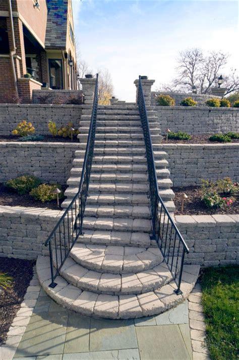 stairs patio minneapolis  versa lok retaining wall