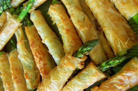 foodista asparagus filled phyllo pastries   perfect