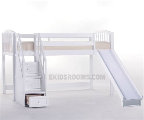 bunk bed with slide and desk bunk bed with stairs and slide newsonair org
