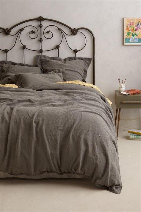 Gray Linen Duvet