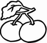 Cherry Coloring Clipart Kirsche Malvorlagen Clip Gratis Cliparts Ausdrucken Zum Library Arts sketch template