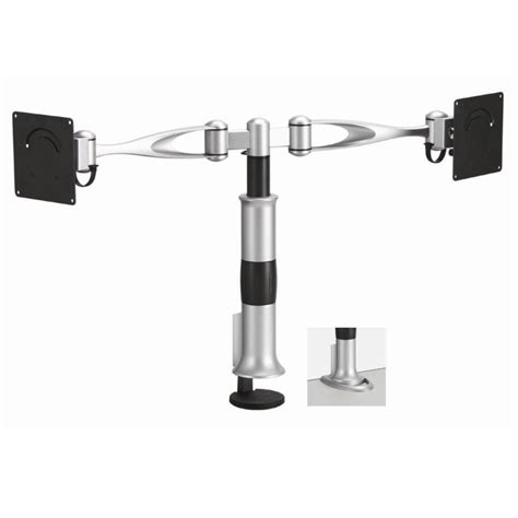 dual monitor desk mount full swing arm monitor arm