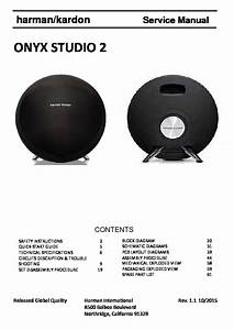 Harman Kardon Onyx Studio 2 Service Manual  U2014 View Online