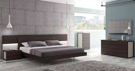 wenge  grey lacquer modern bed sj matia contemporary