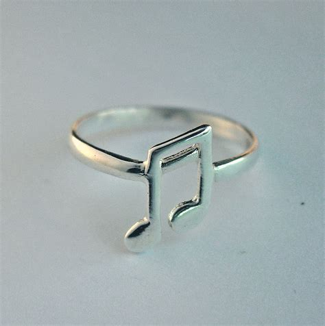 musical note ring sterling silver music note ring free