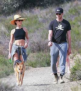 Maggie Q displays her abs on hike with fiancé Dylan ...