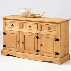 bahut 3 portes 3 tiroirs tequila pin With wonderful meuble a chaussures en bois massif 12 tete de lit en bois massif