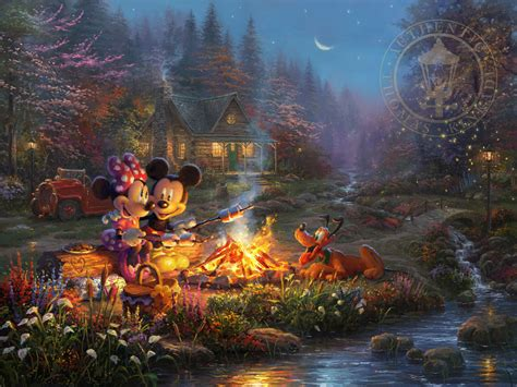 homeade lifesize thinas kinkade christmas tree mickey and minnie sweetheart cfire kinkade studios
