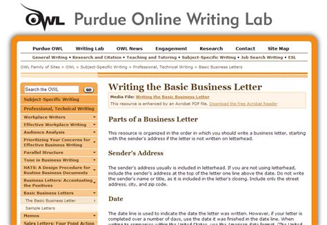 writing lab purdue cover letter