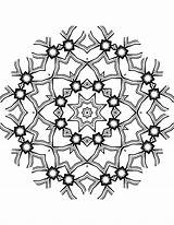 Kaleidoscope Coloring Mandala Pages sketch template