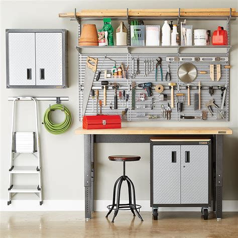 elfa utility gladiator garage shelving  container store