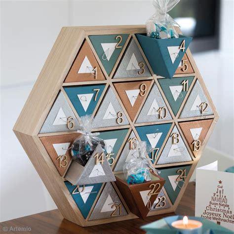 kit cuisine moleculaire calendrier de l 39 avent en bois à décorer hexagone 36 5