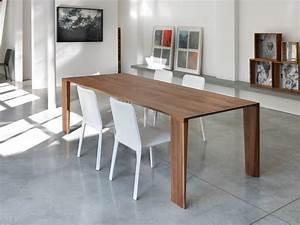 Tavolo fisso, in legno massello, per cucina moderna
