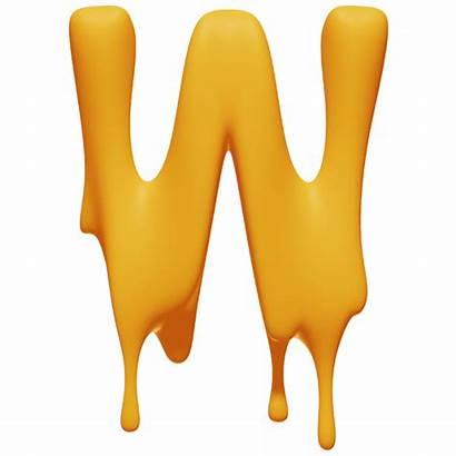 Melting Font Letter Fonts Handmadefont Take Honey