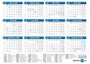 Kalender 2008 for Kalender 2008 zum ausdrucken