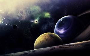 sci fi science fiction planets nebula stars galaxy moon ...