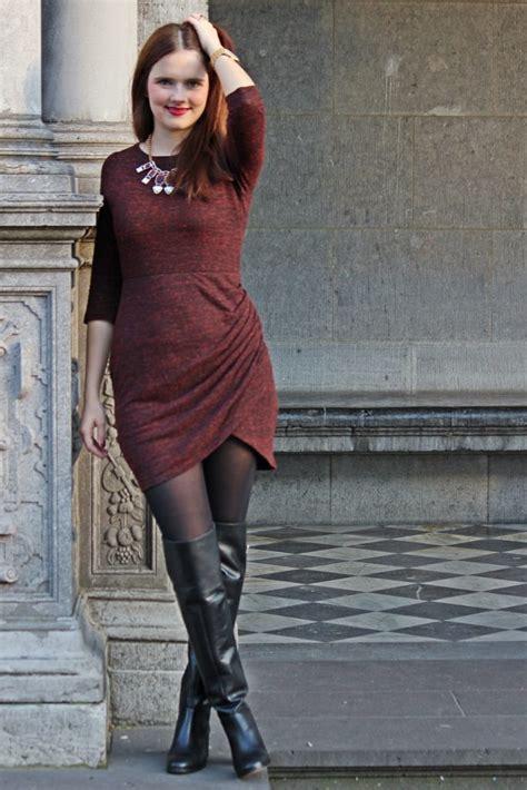 outfit meet   zara overknee boots
