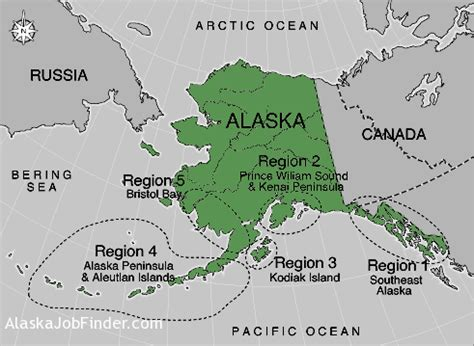 alaska commercial fishing regions map alaskajobfinder