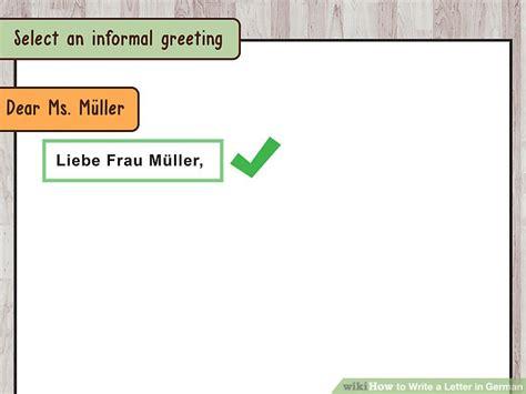 ways  write  letter  german wikihow
