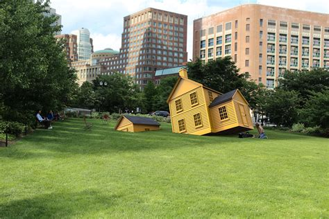 Boston House by There S A Sinking Yellow House On The Greenway Boston