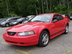 2002 Torch Red Ford Mustang V6 Coupe #30037804 | GTCarLot.com - Car Color Galleries