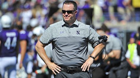 report northwestern coach pat fitzgerald agrees  long