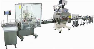 Automatic filling capping labeling and sealing production line