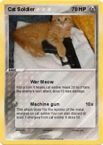 cat cards pok 233 mon cat soldier 1 1 war meow my card
