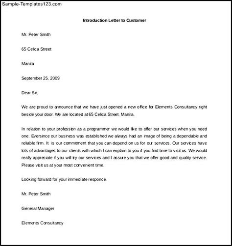 introduction letter for sle 5 sales letter introduction