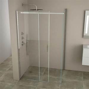cabine de douche coulissante minima 120 a 140 cm With porte de douche coulissante avec idée de salle de bain avec douche italienne