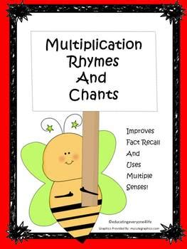multiplication rhymes  chants part   educating