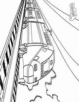 Train Coloring Pages Printable Subway Amtrak Railway Speed Cliparts Sheet Gof Source Collections Craft Freight Books sketch template