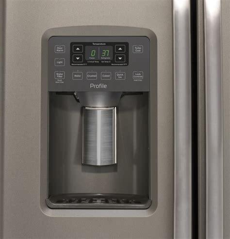 ge pzsmmkes   side  side refrigerator   cu ft capacity turbo cool ice