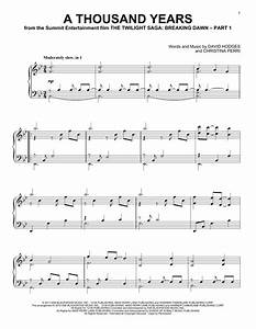 A Thousand Years piano sheet music by Christina Perri ...