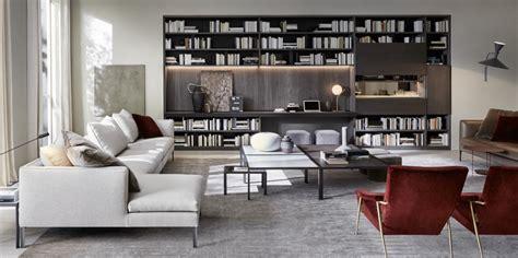 librerie molteni parete attrezzata moderna componibile minimal 505