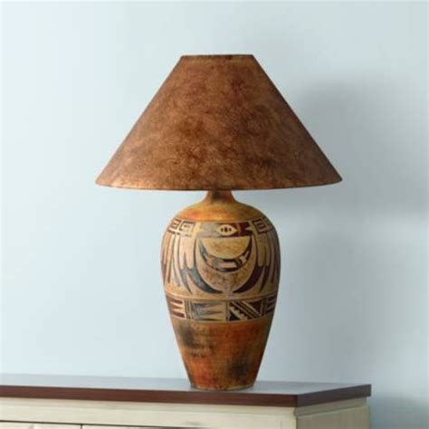Indian Marigold Handcrafted Southwest Table Lamp   #3N814