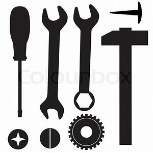 A set of tools for repairs Vector illustration Stock