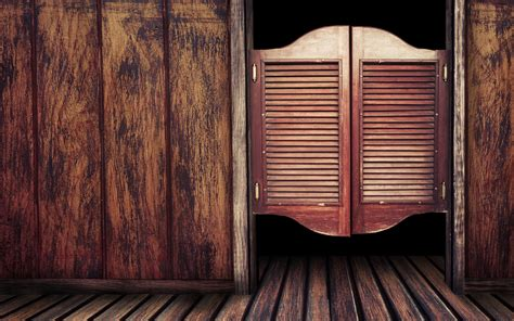 wooden door   western bar photo  desktop