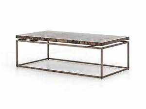 four hands wesson 53 x 28 rectangular bronze roman coffee With roman coffee table