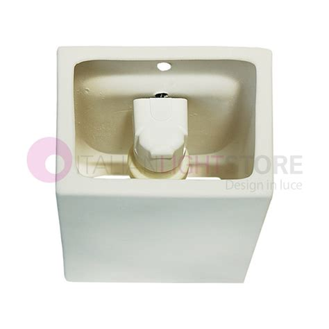 artic rectangular paintable ceramic plaster wall washer light