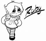 Gloom Coloring Ruby Misery Template Pages 929px 77kb 1024 sketch template