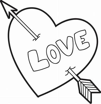 Coloring Valentine Heart Pages Valentines