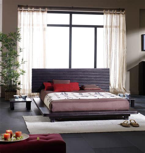 style chambre a coucher lit style japonais en rotin brin d 39 ouest