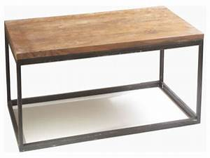 Wood and metal coffee table, rustic modern coffee table ...