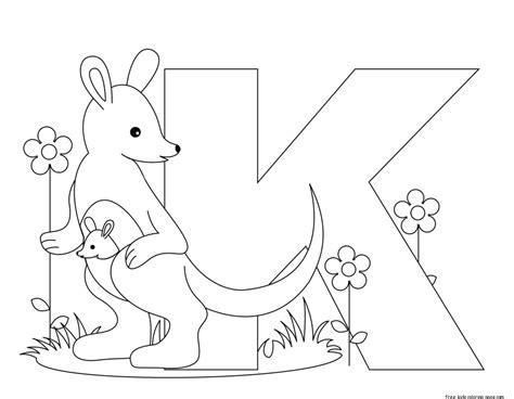 printable alphabet letters  kindergartenfree printable coloring pages  kids