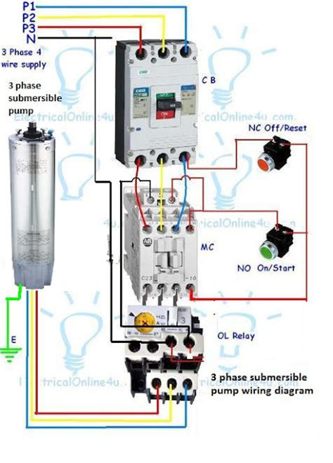 Phase Submersible Pump Wiring Diagram With Dol Stater