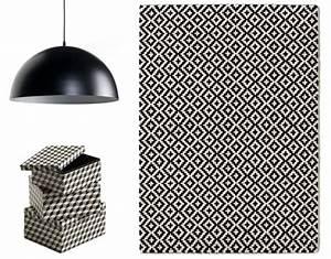 Tapis Geometrique Noir Et Blanc : soldes d co en noir et blanc joli place ~ Teatrodelosmanantiales.com Idées de Décoration